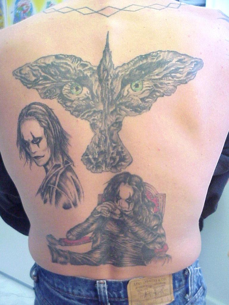 crow back tattoo by mr taboo on deviantart. Black Bedroom Furniture Sets. Home Design Ideas