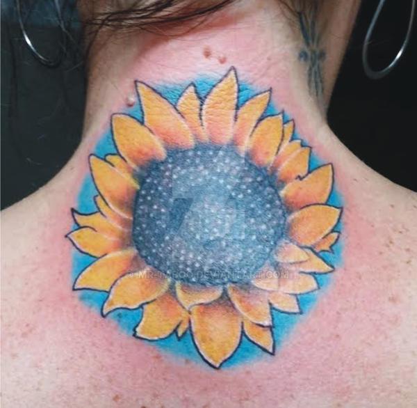 Sunflower Upper Back by Mr-Taboo