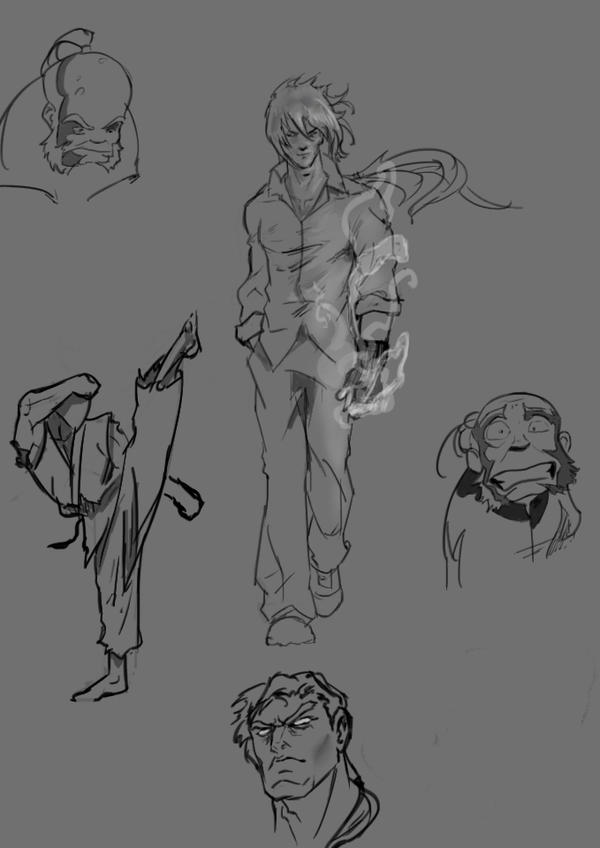 studies from some old anime and cartoon series  !! by dantevirgil