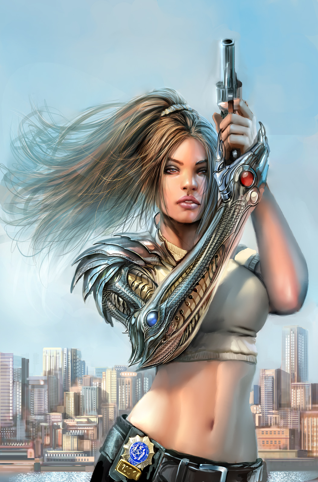 witchblade tpb cover top cow by nebezial