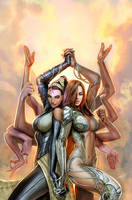 witchblade devi cover by nebezial