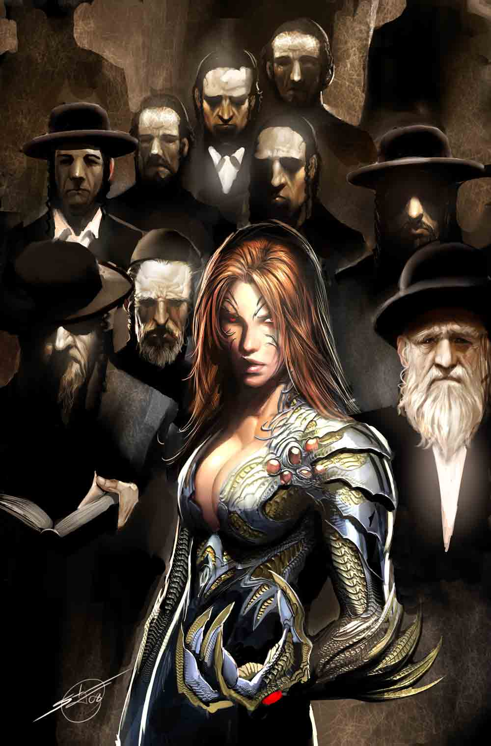 witchblade 121 cover by nebezial