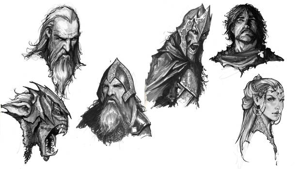 morning sketches 3 lotr