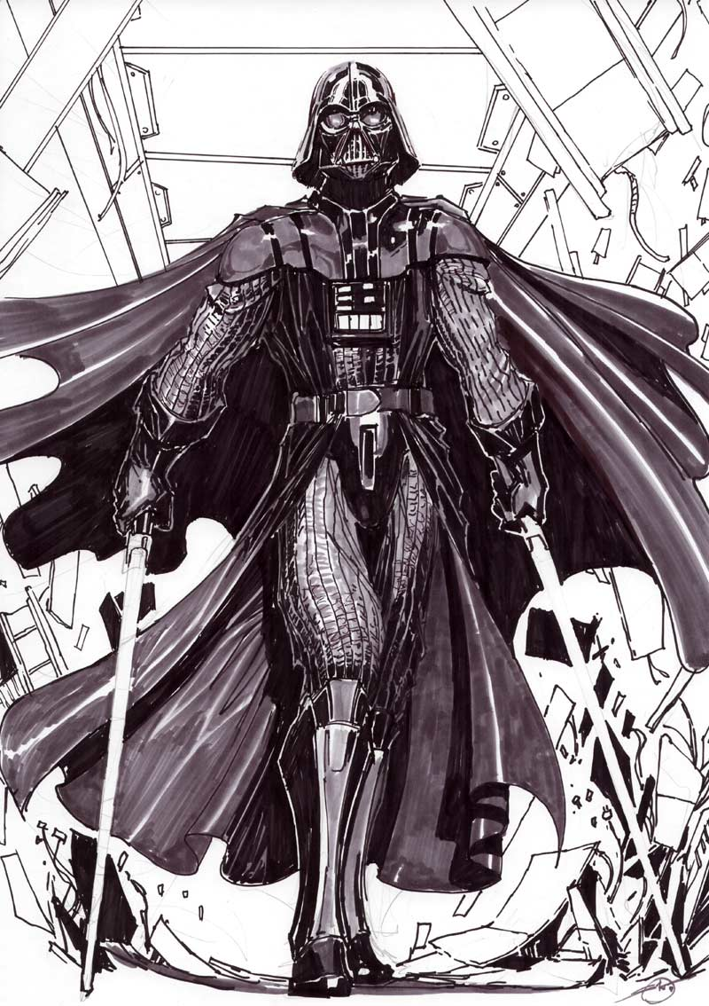 darth vader comish by nebezial
