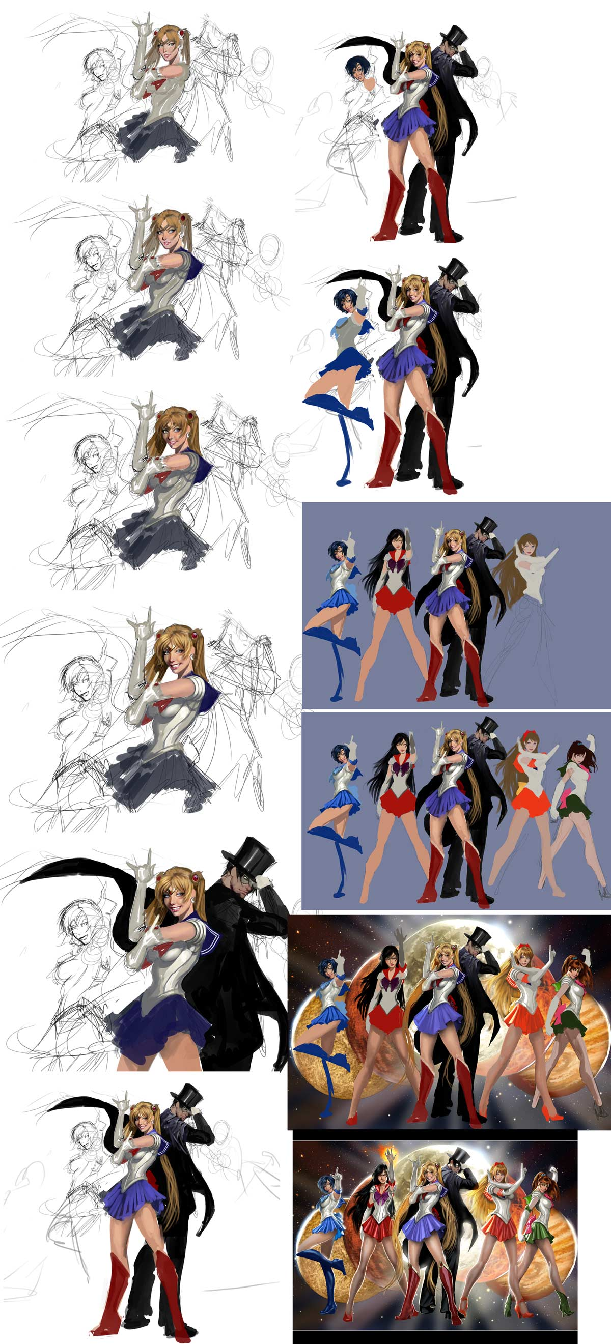 sailor moown wip process by nebezial