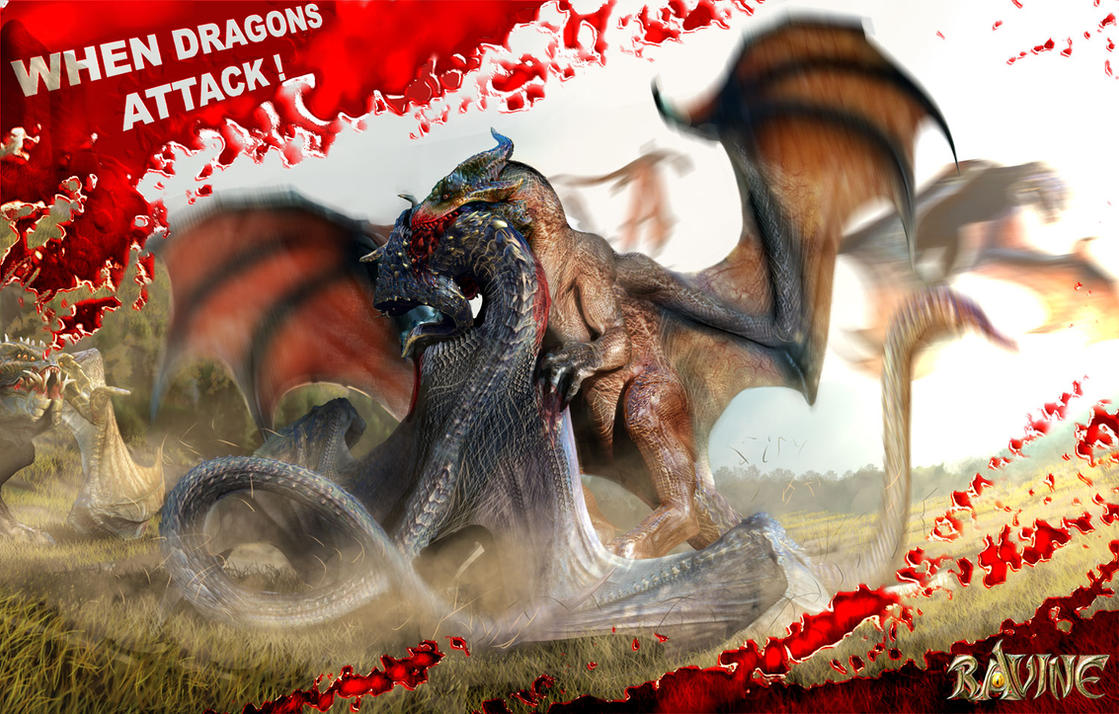 ravine dragon battle by nebezial