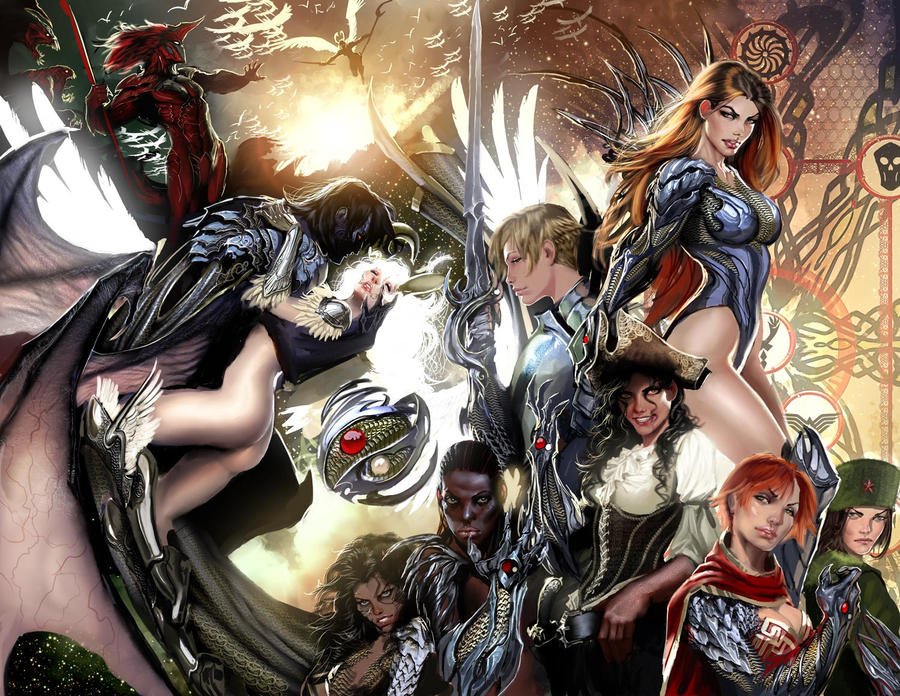 witchblade 144 spread by nebezial