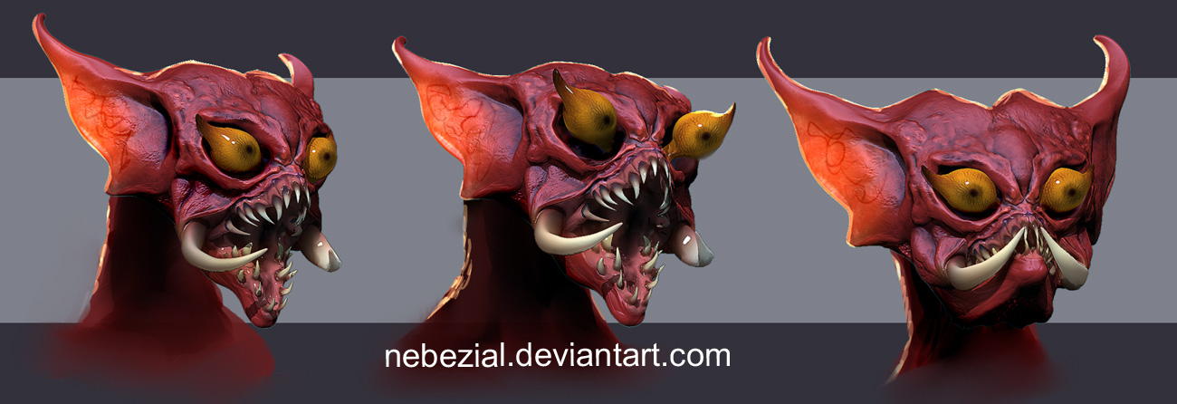 mantenna zbrush sketch by nebezial
