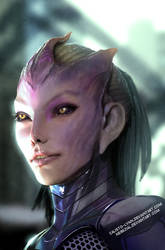 my wife's tali zorah redesign in 3d by nebezial