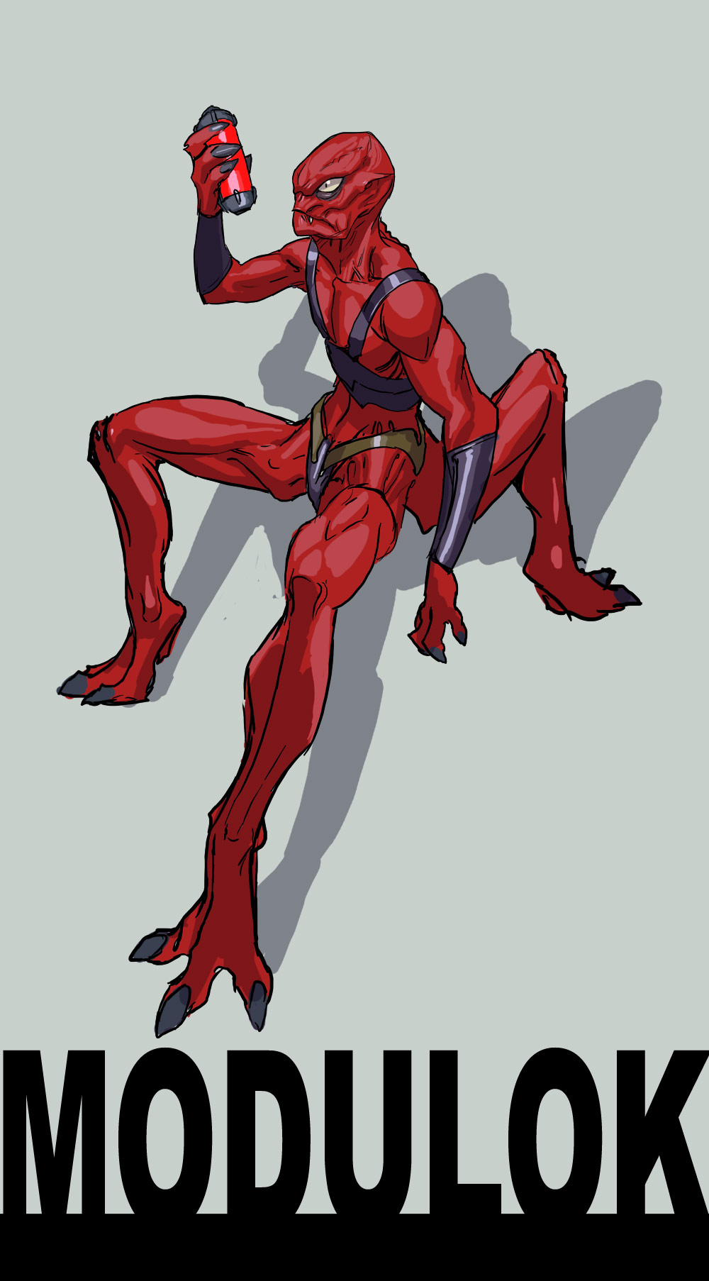 modulok ...i had to...i mean..3 legged red guy... by nebezial