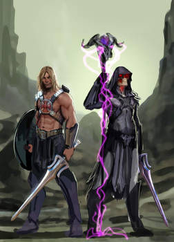 by the power of grayskull and snake mountain