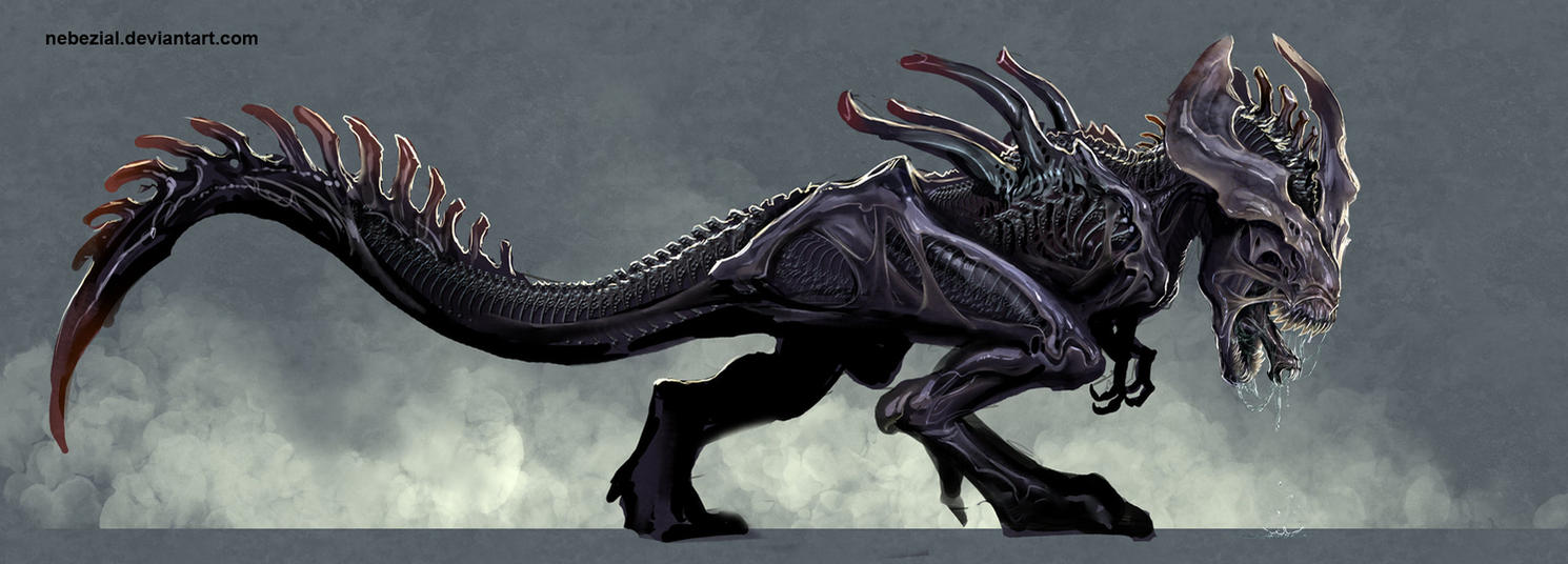 xenomorph rex by nebezial on DeviantArt