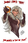 ever wonder how black cat keeps her costume on?