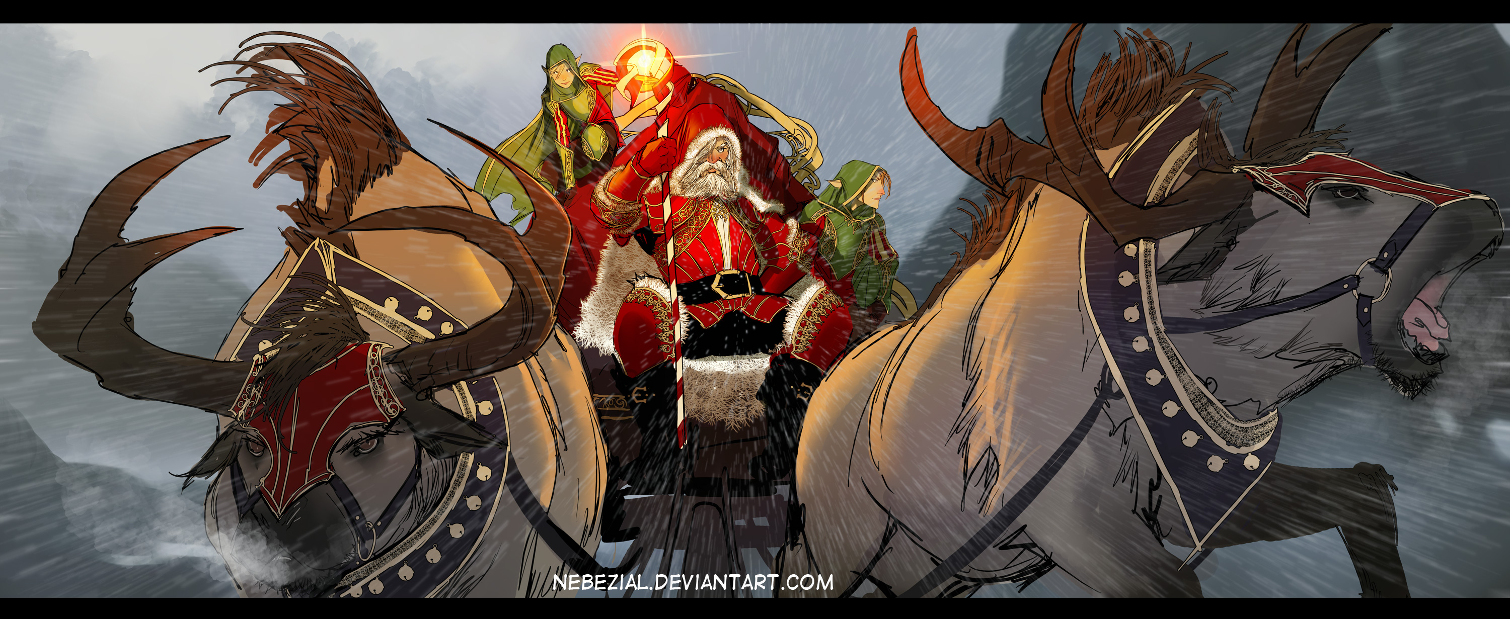 EPIC santa wishes you a FANTASTICAL xmass by nebezial