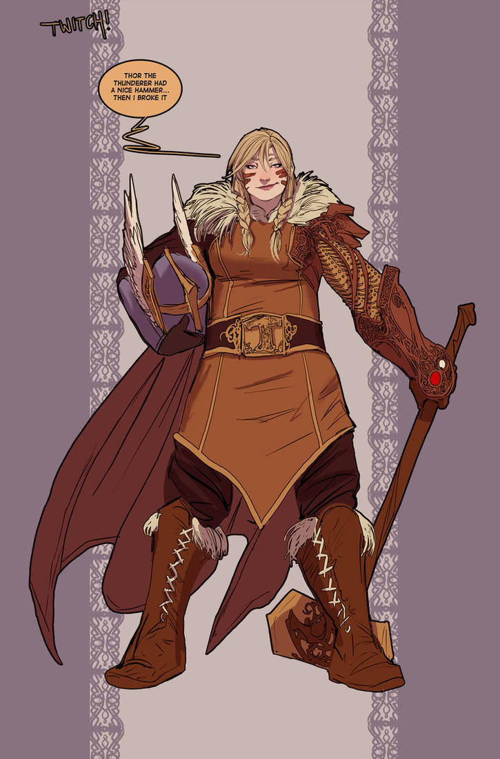 twitch- hilde the hammer by nebezial