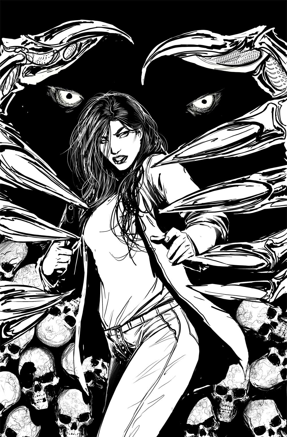 witchblade cover inks by nebezial