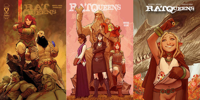 some rat queens covers
