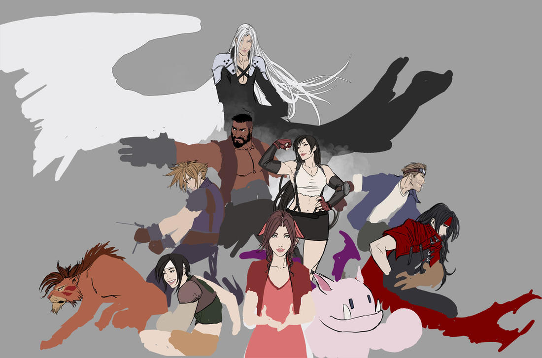 wip ff7 fanart that i'l totally finish by nebezial