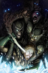 aquaman cover or as i call it: the swimming dead by nebezial
