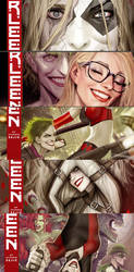 a bunch of harleen cover teasers
