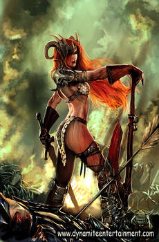 savage tales , red sonja cover