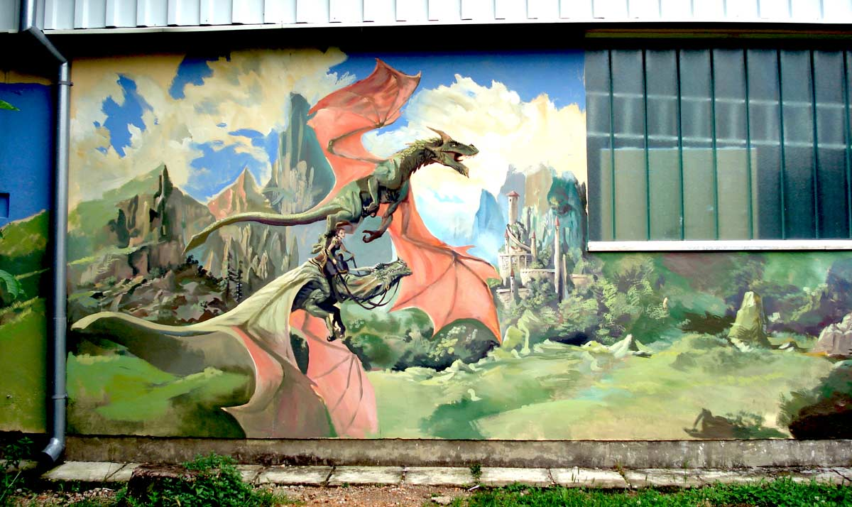 dragon mural by nebezial on deviantart