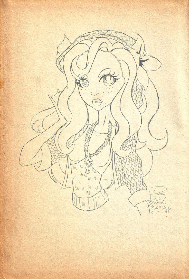 How To Draw Red Eyes Black Dragon Step 9 Monster High Lagoona Blue By  Chibiwarmonger Monster