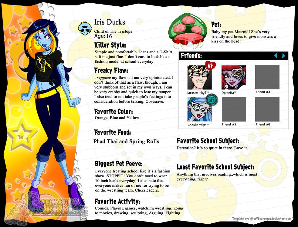 Iris Durks Profile by Chibi-Warmonger