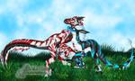 Psychoraptors - Aurtherex and Malice by Rare-Spawn