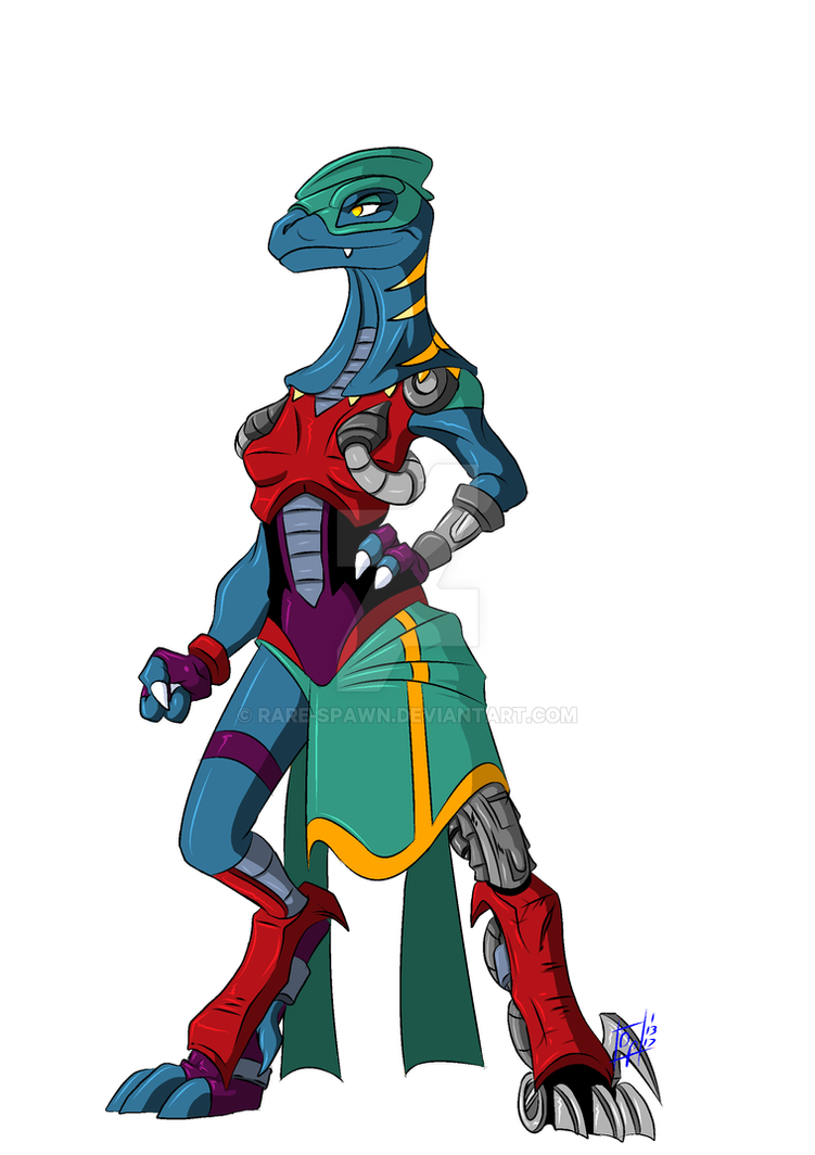 Daphallia - Dinosaucers OC by Chibi-Warmonger