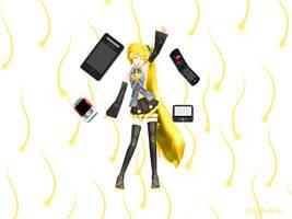 MMD Accessory Akita's phone by innaaleksui