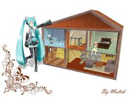 MMD Accessory Doll House by innaaleksui