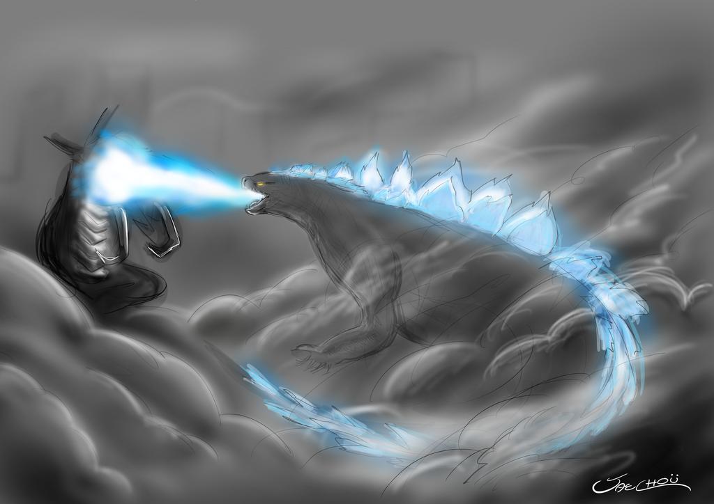 Godzilla vs Muto 2014 by Jaechou on DeviantArt