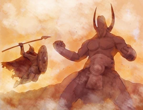 minotaur vs spartan by sagedono