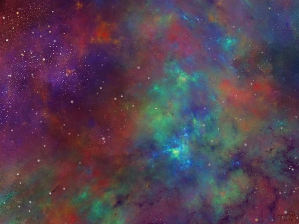 Rainbow Nebula by melissasoup
