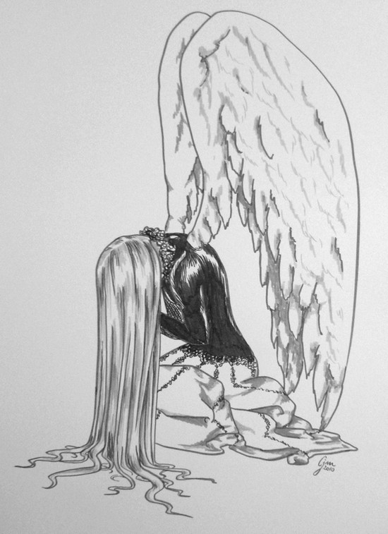 Как нарисовать плачущих ангелов