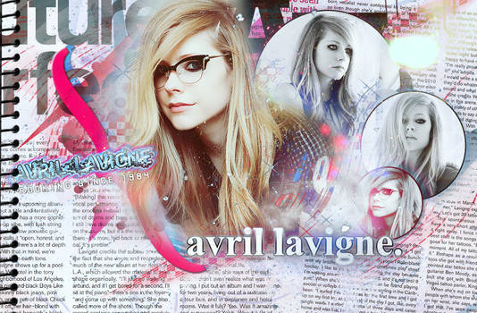 Newspaper Style Avril Wallpape