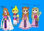 The Princess Zeldas 2 - Coloured