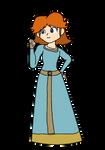 Daisy - Merida (Blue Princess Dress)