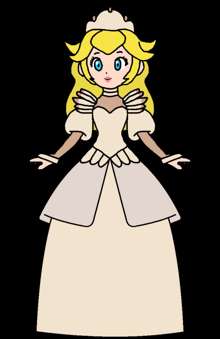 Peach odette wedding dress by katlime on deviantart for Princess peach wedding dress