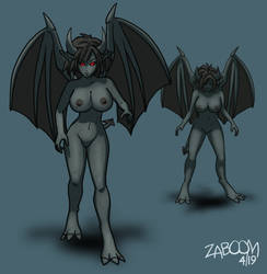 [Concept Art] The Gargoyle Twins by Its-ZaBoom
