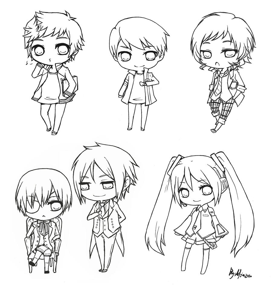 black butler characters coloring pages coloring pages