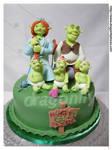 Shrek and Family Cake