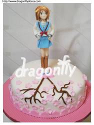 Haruhi Cake by dragonflydoces