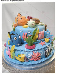 Finding Nemo Cake by dragonflydoces