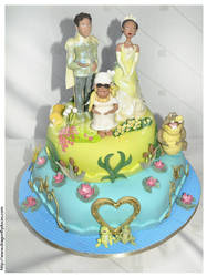 Princess and the Frog Cake by dragonflydoces