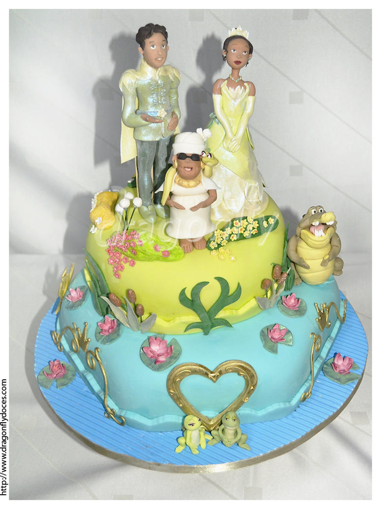 Princess Tiana Cake Pictures : Princess and the Frog Cake by dragonflydoces on DeviantArt