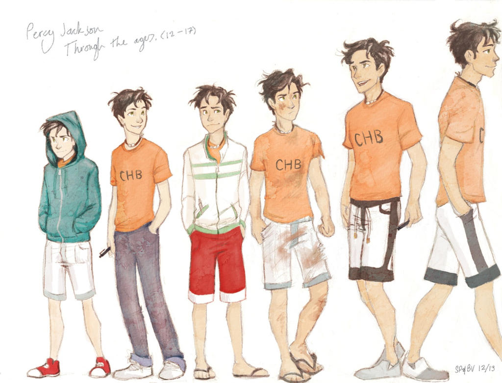 Percy Jackson Fan Art Wallpaper Percy Jackson through the ages