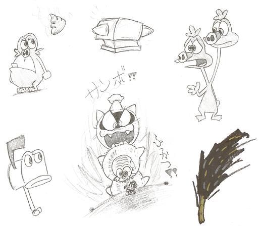 Space Goofs doodles by Husky-Washu