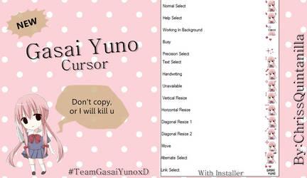 Gasai Yuno Cursor by ChrissQuintanilla